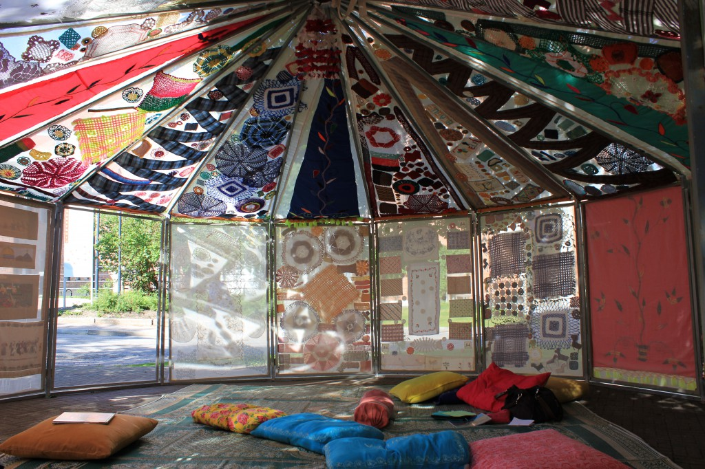 virkattu teltta