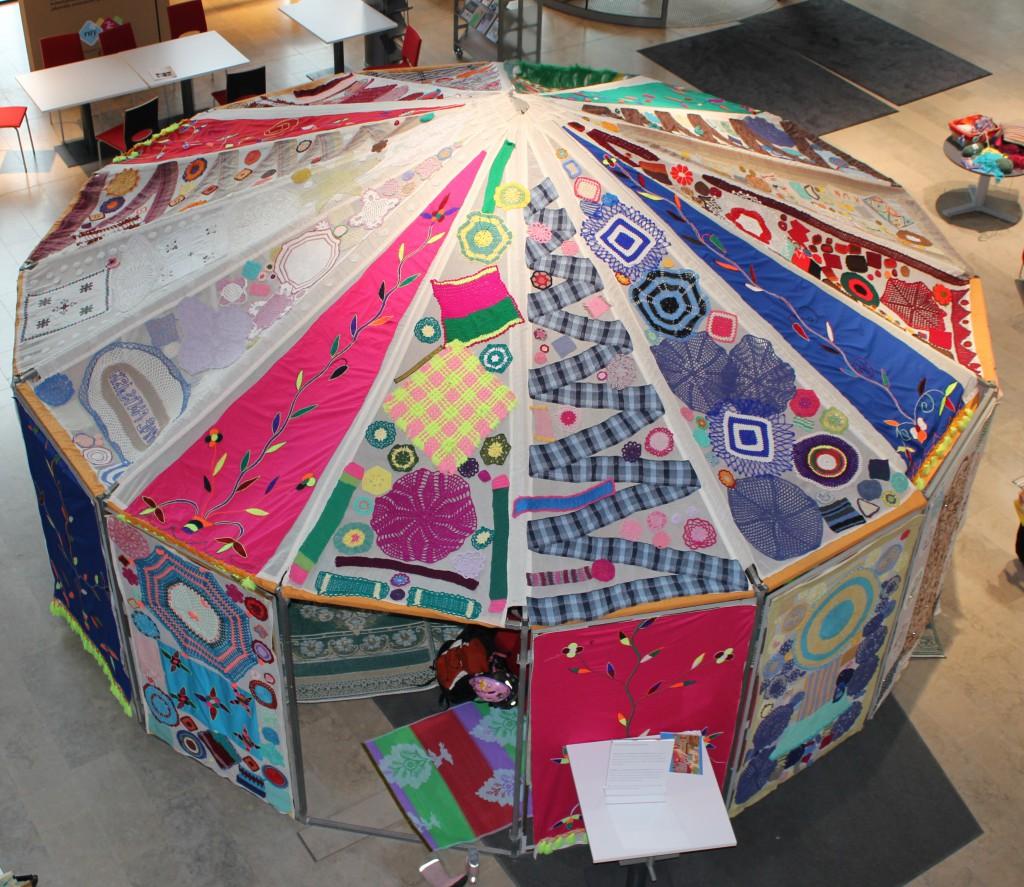 virkattu teltta 2